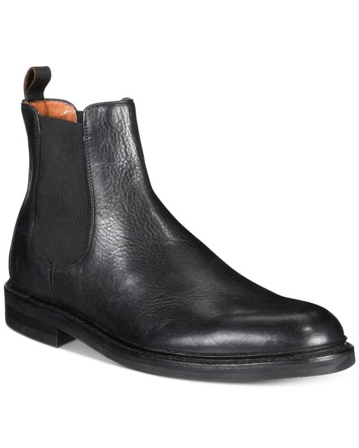 Frye | Black Seth Chelsea Boots Created For Macy's for Men | Lyst