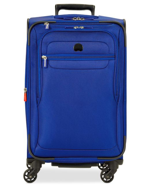 """Delsey   Blue Helium Fusion 21"""" Expandable Spinner Suitcase for Men   Lyst"""