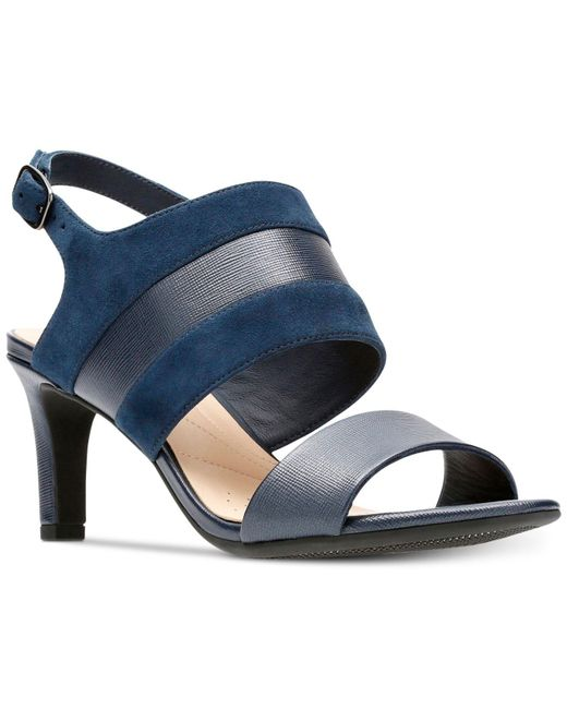 Clarks - Blue Laureti Joy Dress Sandals - Lyst