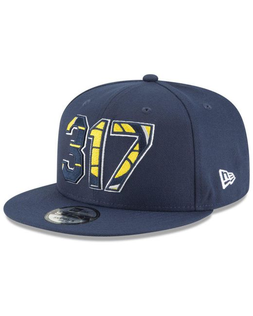 e1fdd9bf0ef KTZ - Blue Indiana Pacers Area Code 9fifty Snapback Cap - Lyst ...