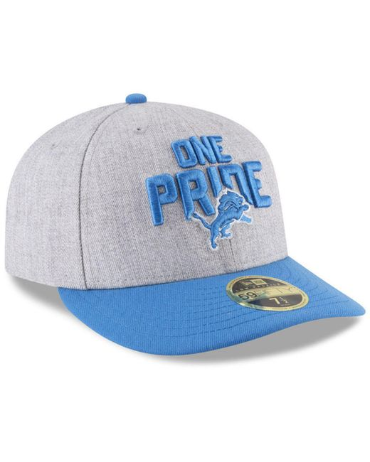 bed40acc ... KTZ - Blue Detroit Lions Draft Low Profile 59fifty Fitted Cap for Men -  Lyst ...