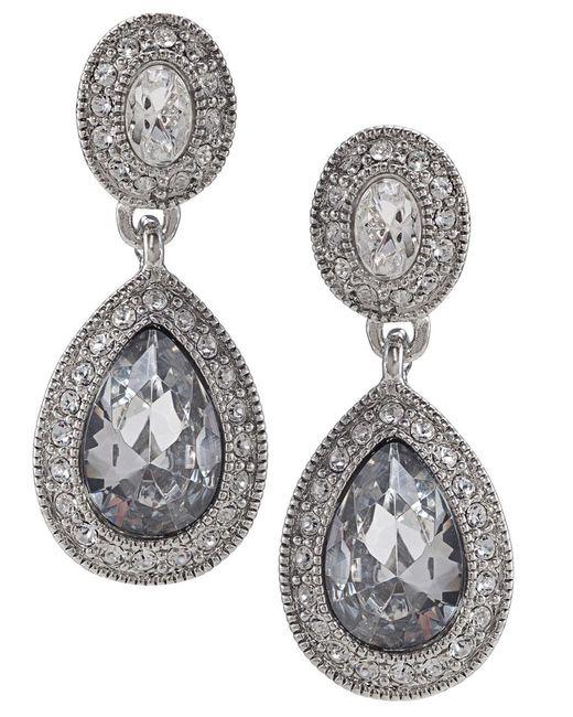 Carolee   Metallic Earrings, Crystal Drop   Lyst