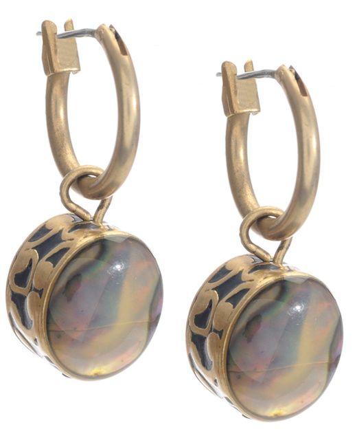 Kenneth Cole | Metallic Earrings, Gold-tone Abalone Drop | Lyst