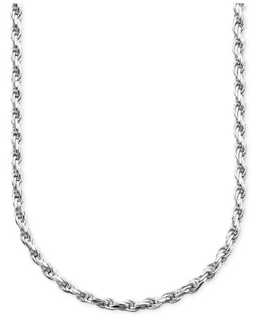 Giani Bernini | Metallic Sterling Silver Necklace, Diamond Cut Chain | Lyst