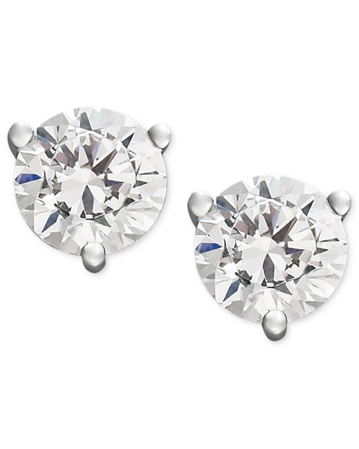 Macy's | Near Colorless Certified Diamond Stud Earrings In 18k White Or Yellow Gold (3/4 Ct. T.w.) | Lyst