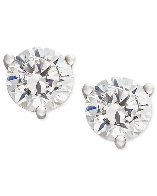 Macy's   Metallic Near Colorless Certified Diamond Stud Earrings In 18k White Or Yellow Gold (1 Ct. T.w.)   Lyst