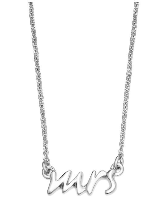 Kate Spade | Metallic Necklace, 12k Gold-plated Say Yes Mrs. Pendant Necklace | Lyst