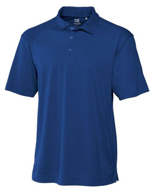 Cutter & Buck Blue Big & Tall Drytec Genre Polo for men