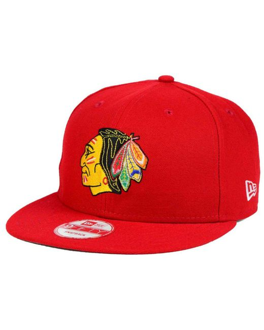 KTZ - Red Chicago Blackhawks All Day 9fifty Snapback Cap for Men - Lyst