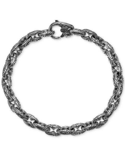 Scott Kay - Metallic Men's Engraved Link Bracelet In Sterling Silver for Men - Lyst