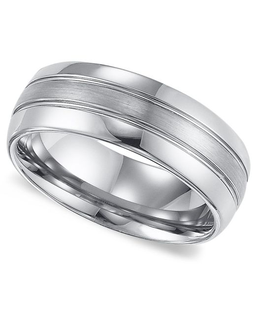 Triton Wedding Band Black Tungsten Carbide 8mm: Triton Men's Tungsten Carbide Ring, Comfort Fit Wedding