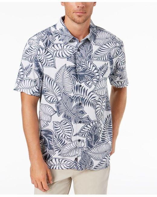 Quiksilver Blue 'angler' Regular Fit Print Camp Shirt for men