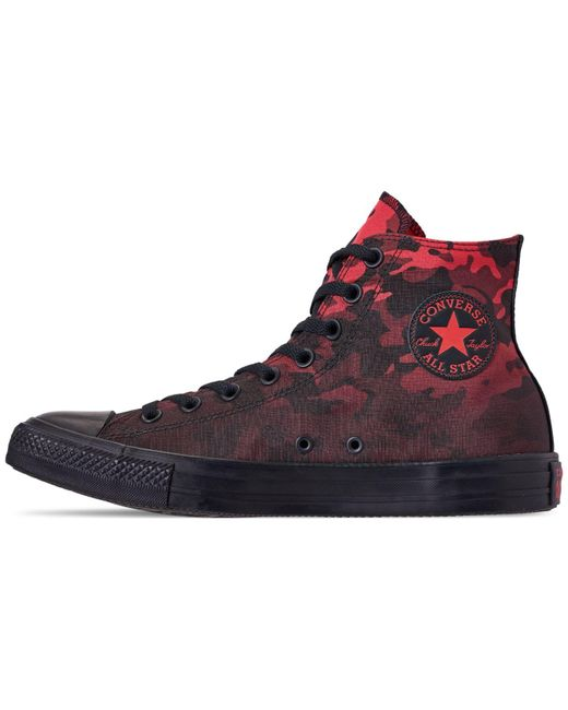 4801be6ab4db ... Converse - Black Chuck Taylor All Star Gradient Camo High Top Casual  Sneakers From Finish Line ...