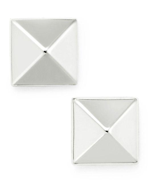 Macy's | Metallic Pyramid Stud Earrings In 14k Gold | Lyst