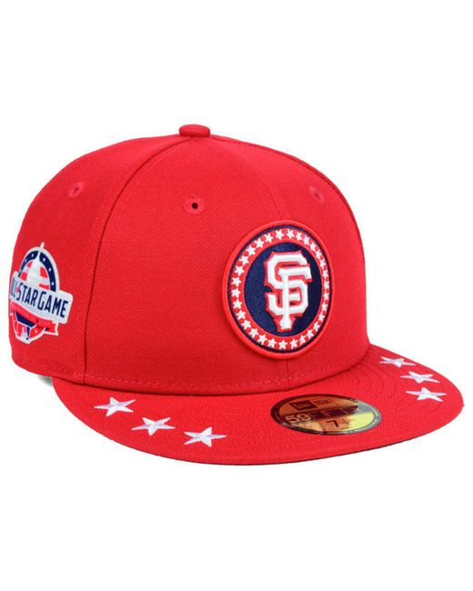 bddfc24a49764 usa san francisco giants hat a5faf ed299  sale ktz red san francisco giants  all star workout 59fifty fitted cap for men lyst fce4c
