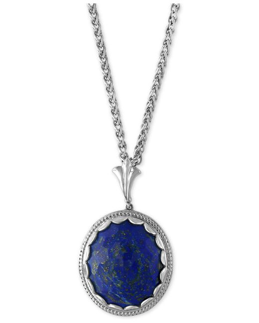 Effy Collection | Metallic Lapis Lazuli Pendant Necklace (19-3/4 Ct. T.w.) In Sterling Silver | Lyst