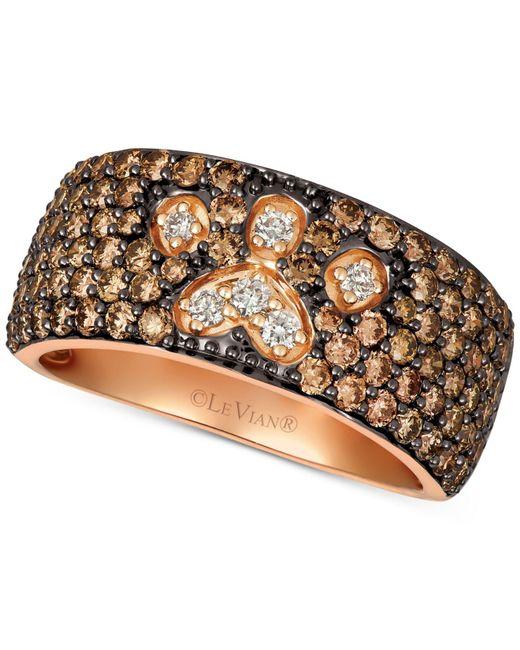 Le Vian - Metallic ® Chocolate & Nudetm Diamond Paw Print Ring (2-1/3 Ct. T.w.) In 14k Rose Gold - Lyst