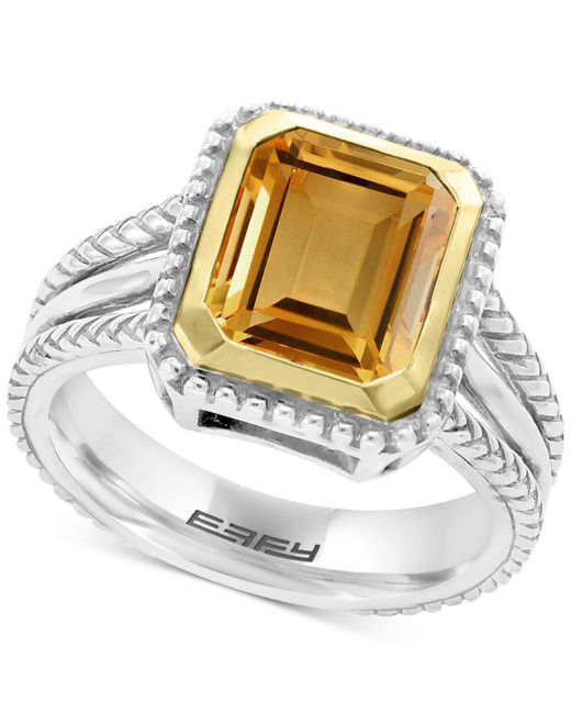 Effy Collection - Metallic Citrine Ring (2-9/10 Ct. T.w.) In Sterling Silver & 18k Gold - Lyst