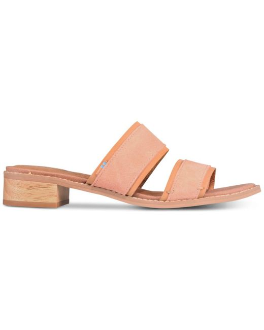 2b0afbe32fe ... TOMS - Pink Mariposa Slip-on City Sandals - Lyst ...