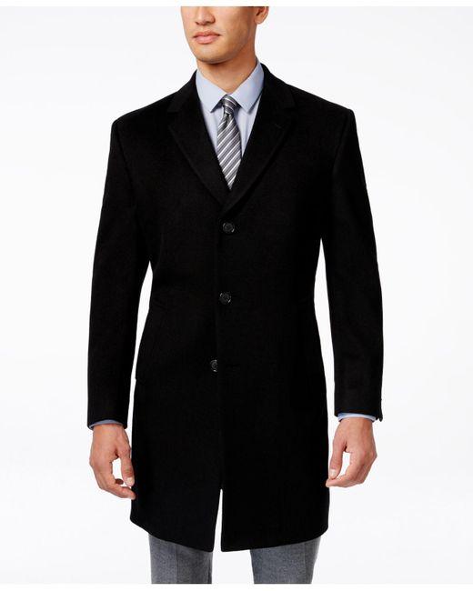 Kenneth Cole Reaction Black Coat, Walden Wool-blend for men