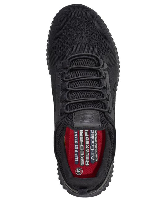 a051d460987 ... Skechers - Black Work Relaxed Fit Cessnock Slip-resistant Work Athletic  Sneakers From Finish Line ...