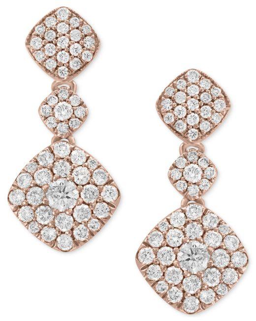 Effy Collection - Metallic Diamond Drop Earrings (1-1/4 Ct. T.w.) In 14k Rose Gold - Lyst