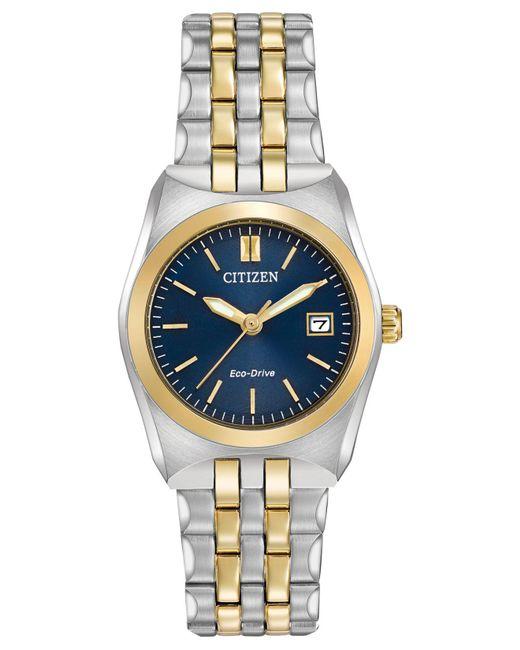 Citizen Metallic Women's Eco-drive Two-tone Stainless Steel Bracelet Watch 28mm Ew2294-53l
