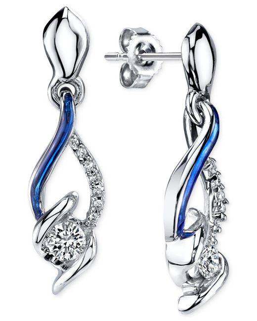 Sirena - Metallic Diamond Drop Earrings In 14k White Gold (1/4 Ct. T.w.) - Lyst