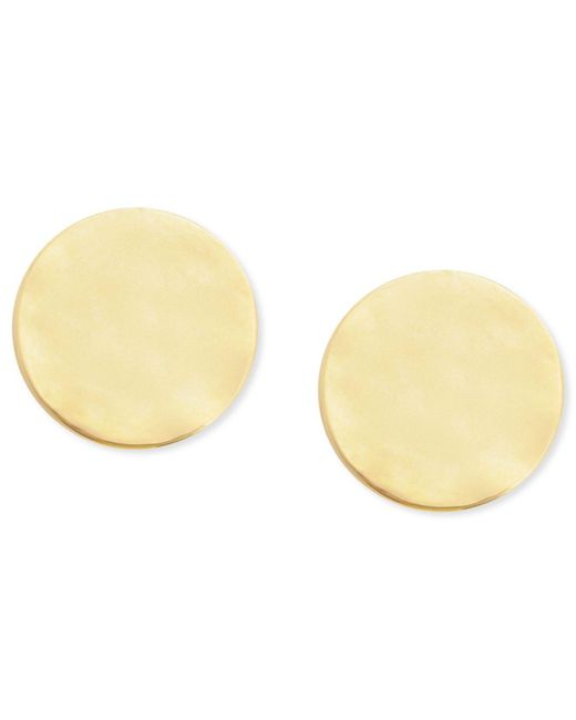 Kenneth Cole | Metallic Earrings, Gold-tone Hammered Small Round Stud Earrings | Lyst