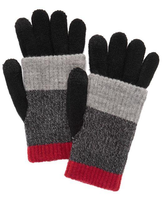 Steve Madden - Red Multi-stripe Touchscreen Gloves - Lyst