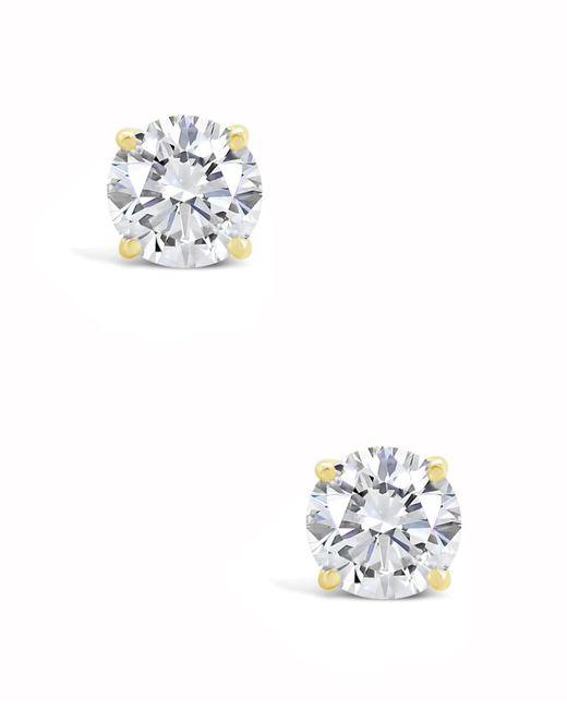 49f666e46 ... Macy's - Certified Round Diamond Stud Earrings (2 Ct. T.w.) In 14k  White ...