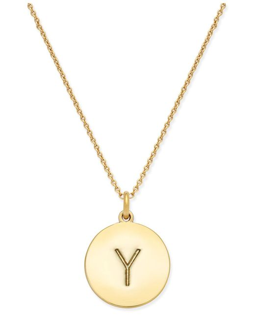Kate Spade | Metallic 12k Gold-plated Initials Pendant Necklace | Lyst