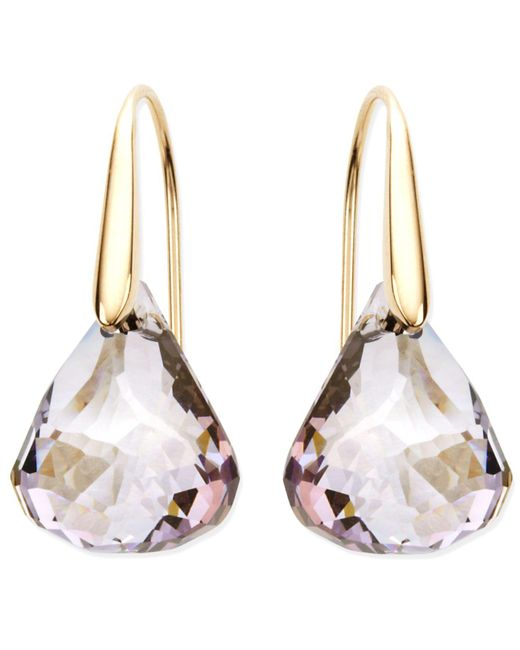 Swarovski | Pink Earrings, Lunar Blush Crystal Drop Earrings | Lyst