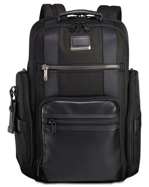 Tumi Black Alpha Bravo Sheppard Deluxe Backpack for men