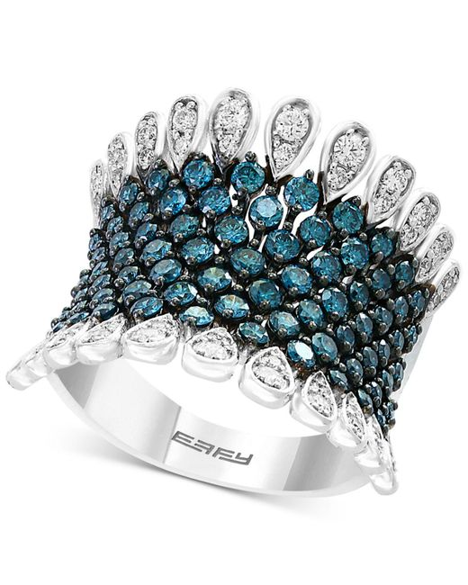 Effy Collection - Metallic Belle Bleu By Effy® Diamond Statement Ring (1-3/4 Ct. T.w.) In 14k White Gold - Lyst
