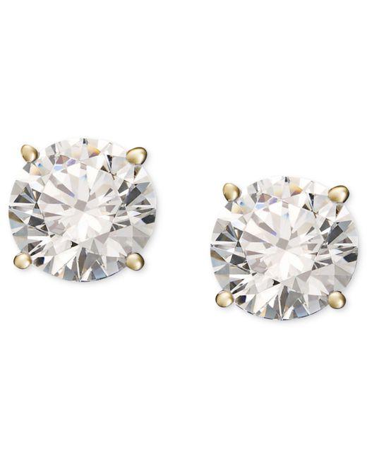 Macy's - Metallic Diamond Stud Earrings (1/4 Ct. T.w.) In 14k White Or Yellow Gold - Lyst