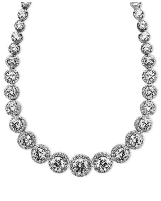 Arabella | Metallic Sterling Silver Necklace, Swarovski Zirconia Necklace (55-1/3 Ct. T.w.) | Lyst
