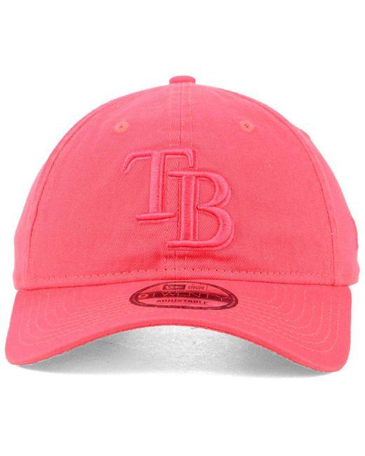 release date 59bbc f3f67 ... KTZ - Pink Tampa Bay Rays Spring Classic 9twenty Cap for Men - Lyst ...