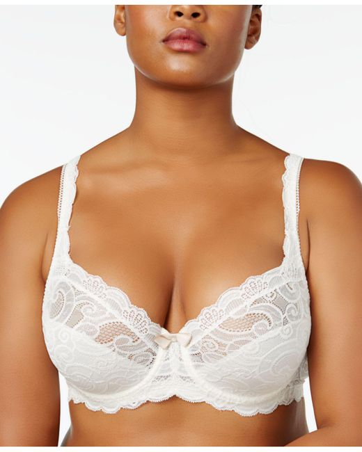Playtex - Multicolor Love My Curves Beautiful Lace & Lift Plus Size Lace Bra Us4825 - Lyst