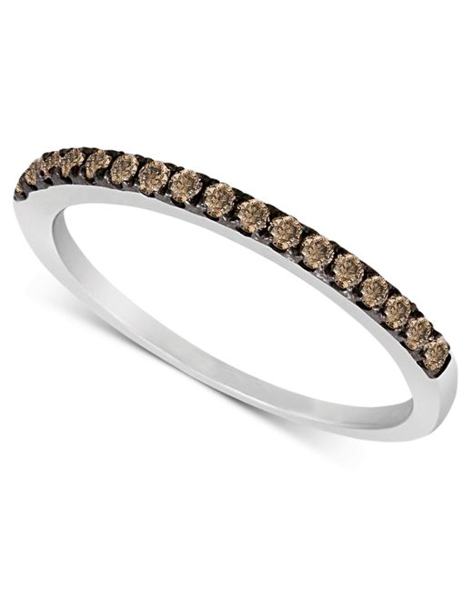 Le Vian | Metallic Chocolate Diamond Pave Band (1/4 Ct. T.w.) In 14k White Or Rose Gold | Lyst