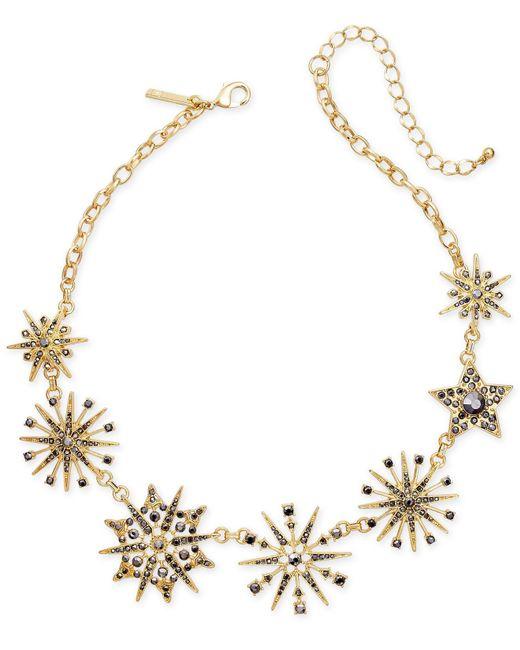 INC International Concepts | Metallic Gold-tone Mixed Pavé Star Statement Necklace | Lyst