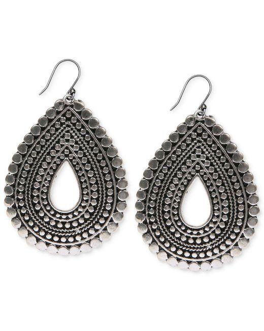 Lucky Brand | Metallic Silver-tone Teardrop Earrings | Lyst
