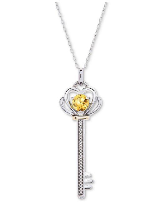 cc14dd3f5b55a Women's Metallic Gemstone & Diamond Accent Key 18