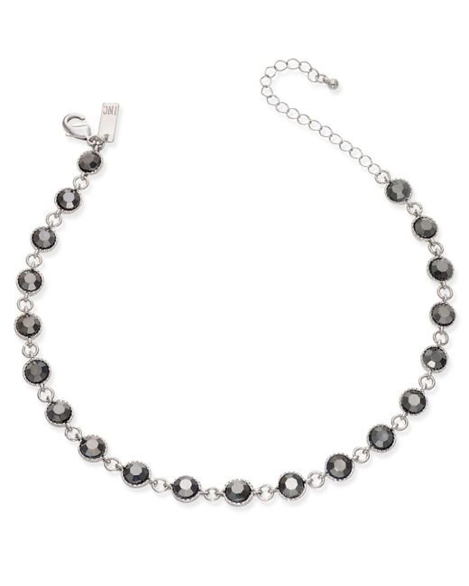 INC International Concepts | Metallic Silver-tone Hematite Stone Choker Necklace | Lyst
