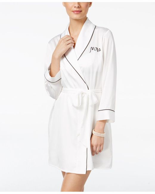 Kate Spade | White Bridal Mrs-embroidered Robe | Lyst