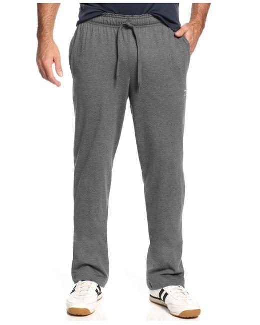 Champion Gray Jersey Open-bottom Pants for men