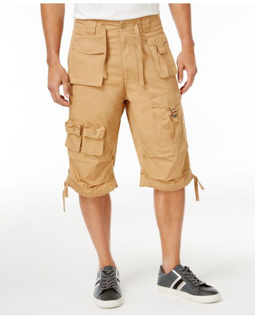 Sean John Natural Shorts, Classic Flight Cargo Shorts for men