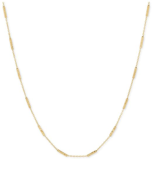 "Macy's - Metallic Textured Link 18"" Statement Necklace In 10k Gold - Lyst"