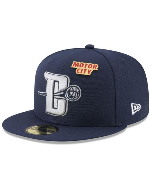 pretty nice 746e7 2d4ee ... KTZ - Blue Detroit Pistons City On-court 59fifty Fitted Cap for Men -  Lyst ...