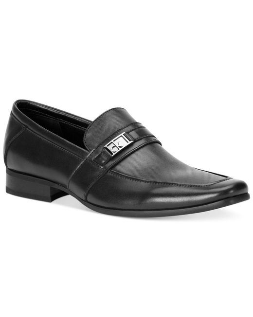 Calvin Klein - Black Bartley Bit Loafers for Men - Lyst